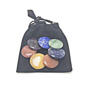 Conjunto de pedras dos Chakras de 3 a 4 cm