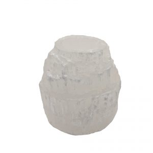 Selenite Porta-Velas Natural